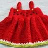 Móc váy cho bé gái kiểu 4_ bộ dưa hấu