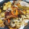 Tuyệt chiêu đãi khách với món gà nướng rau củ quả